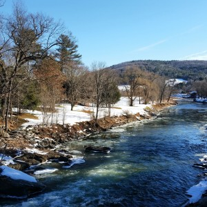Ottauquechee River in January